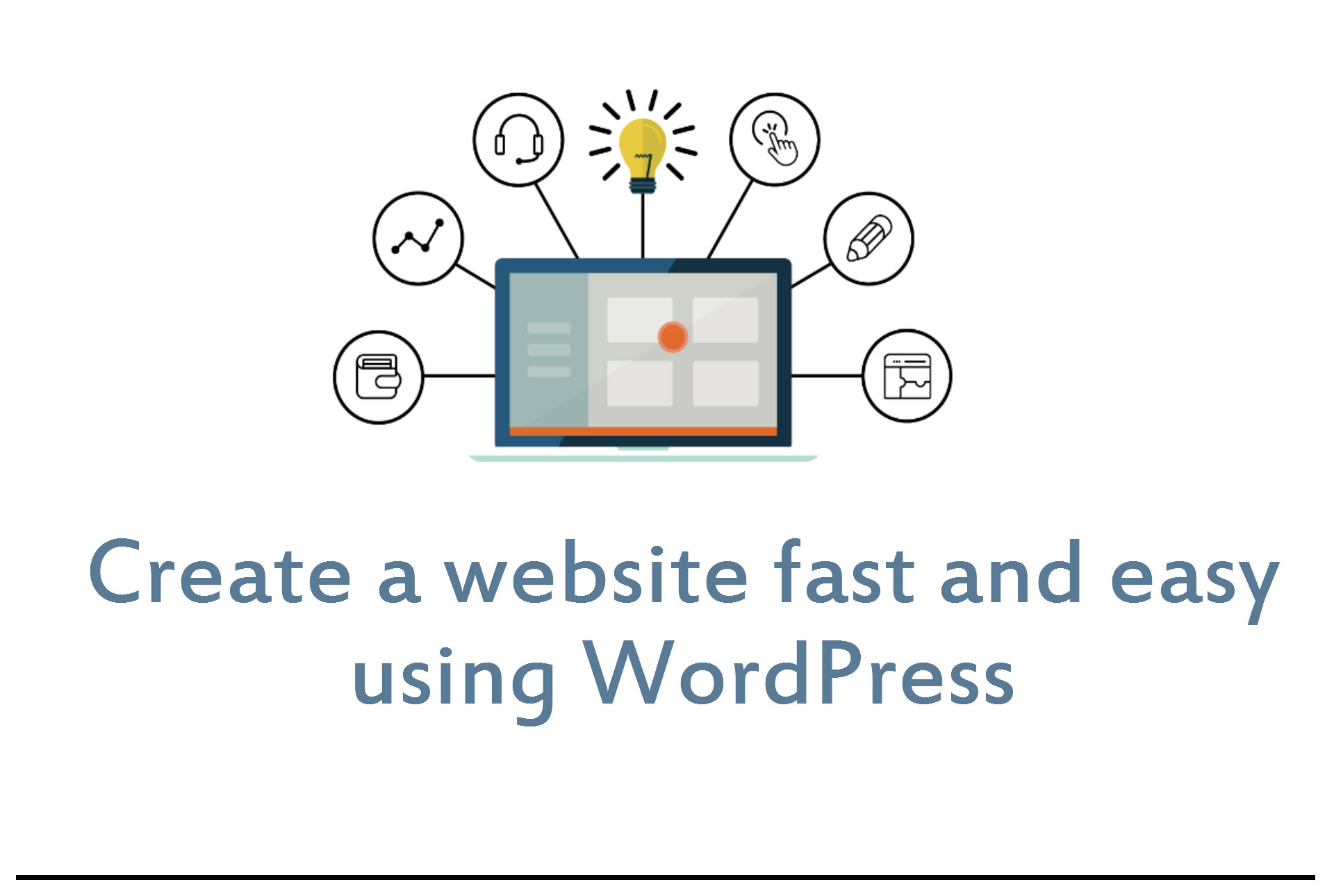 Create a website fast and easy with wordpress